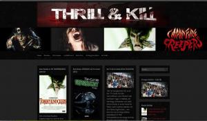 Bild: ThrillAndKill: Redesign einer Webseite für Horrorfilme
