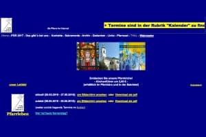 Webdesign für Kirchen, Pfarren und Klöster - Hier ein abschreckendes Beispiel