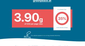 CO2-Emissionen der Webseite Greenpeace Österreich