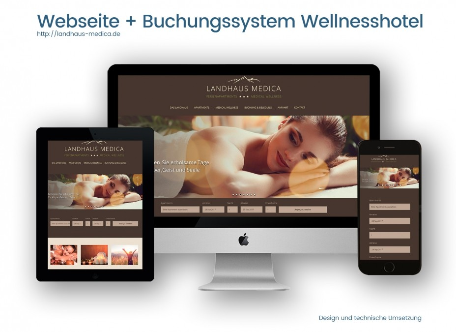 Referenz für Webseite Wellnesshotel