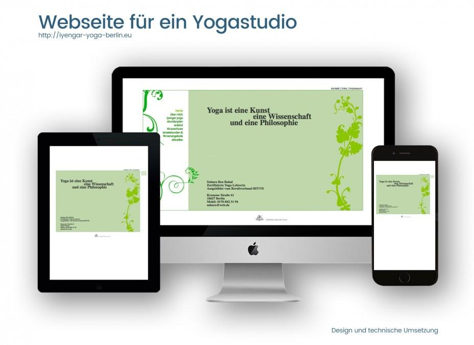 Webdesignreferenz Yogastudio