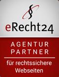 Sicherheit bei allen Rechtsfragen (inkl. DSGVO) durch Agenturaccount bei erecht24.de