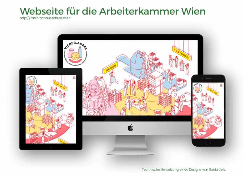 Referenzen Webseite Arbeiterkammer Wien