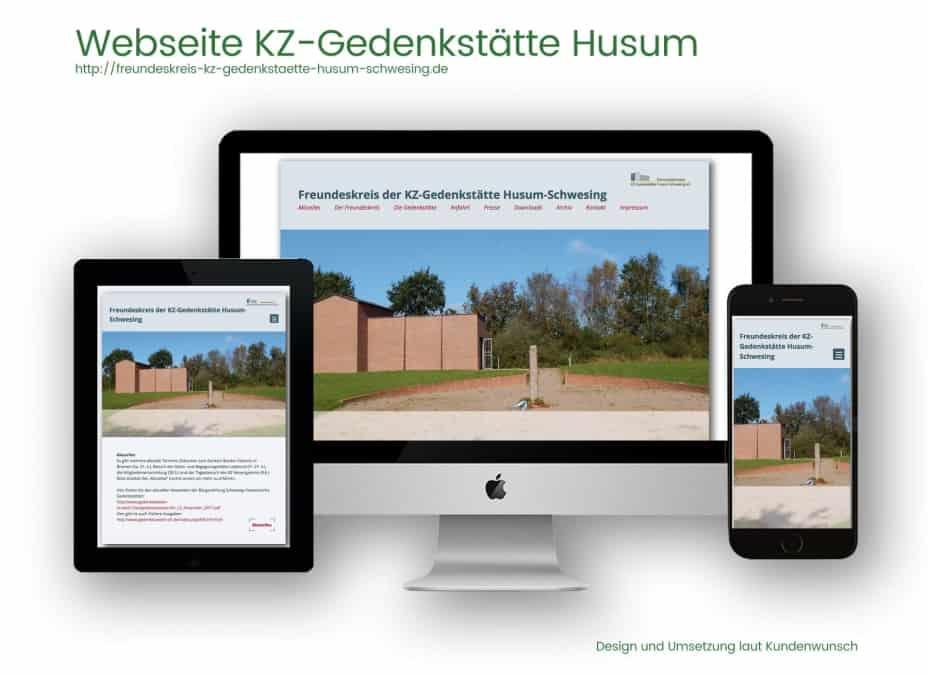 Webdesignreferenz KZ Husum