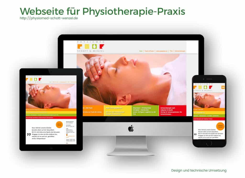 Referenzen Webdesign Physiotherapie Schott & Wenzel