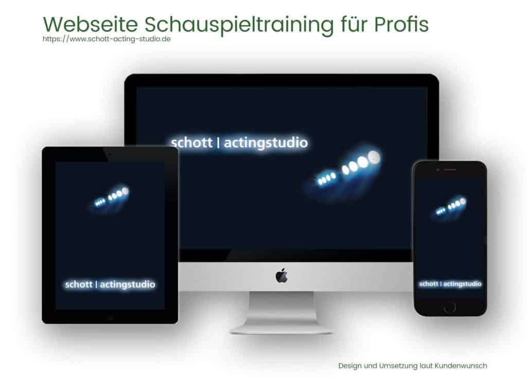 Referenzen Webdesign und Programmierung Schott Schaupielschule