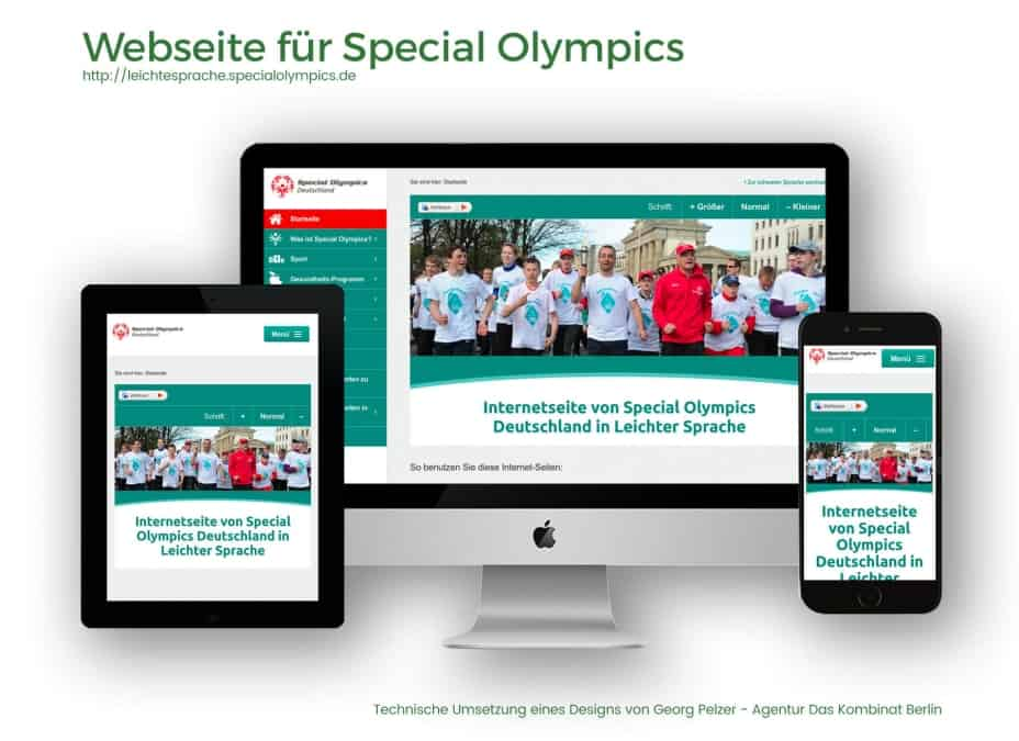 Webdesign Referenz Special Olympics