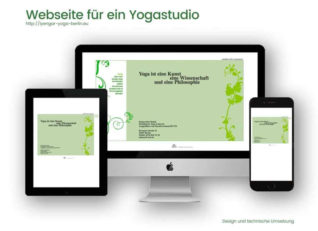 Referenzen Webdesign und Programmierung- Inyengar-Yoga-Studio Suhara Ben Rahal