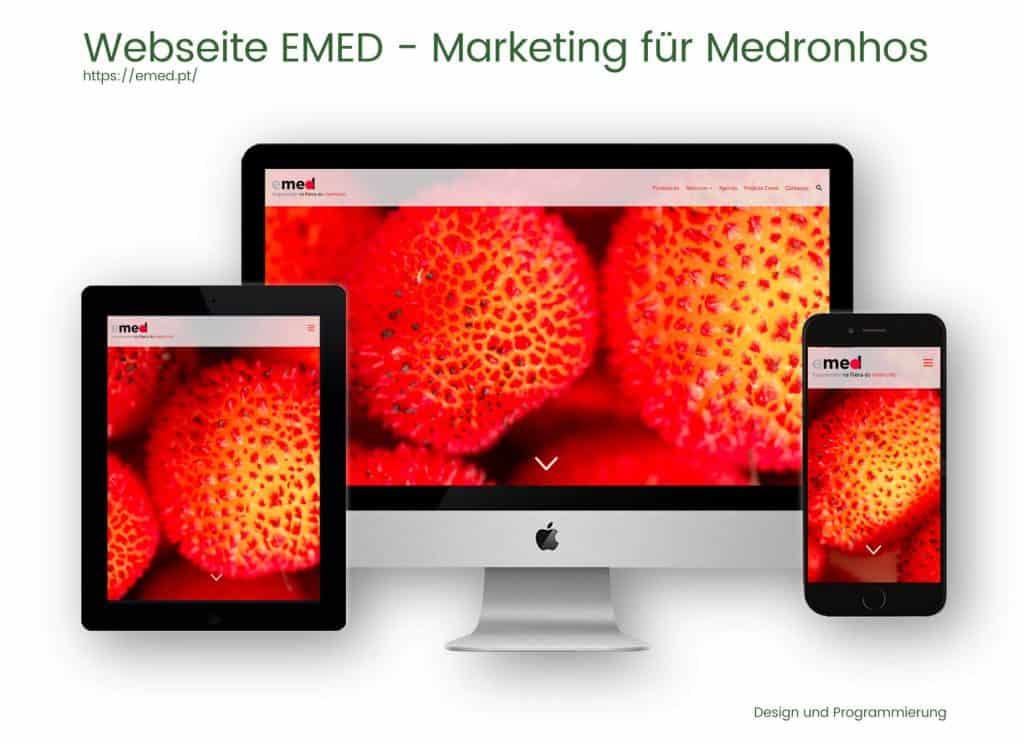 Referenzen Webdesign und Programmierung- EMED
