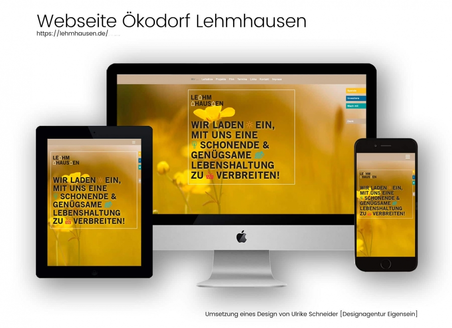 Webdesign Referenz Ökodorf