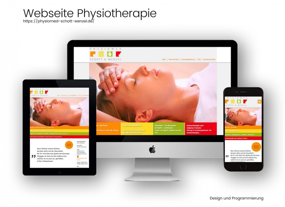 Webdesign Referenz Physiotherapie