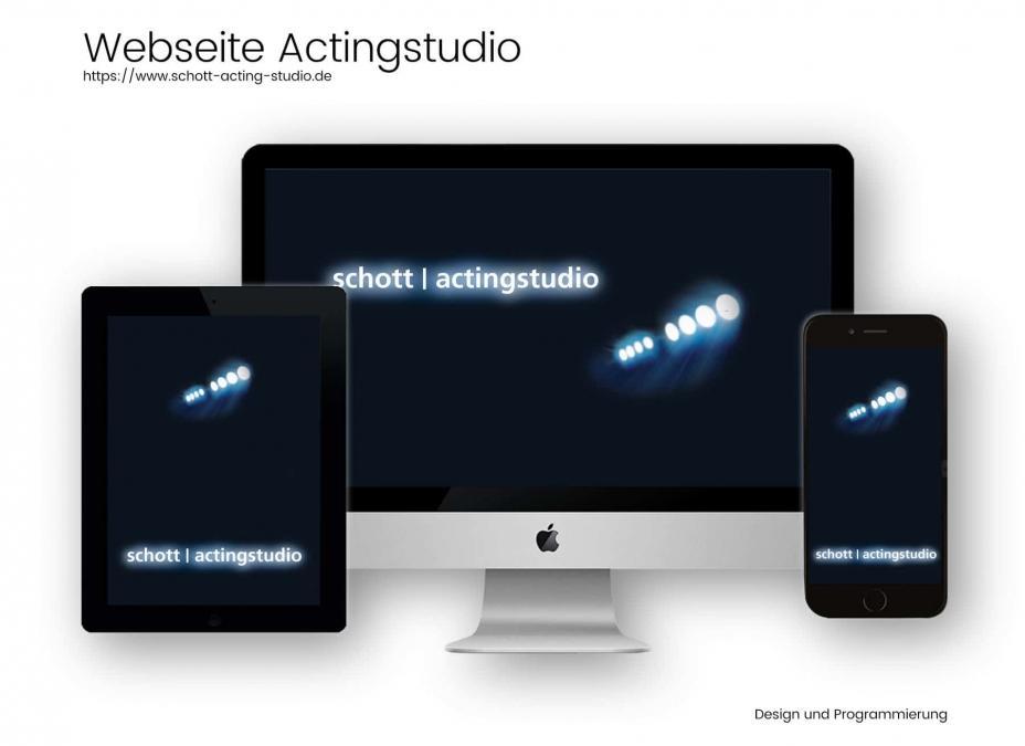 Webdesignreferenz Schauspieltraining